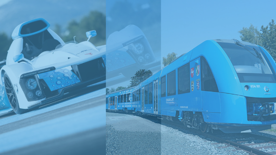 Hydrogen powered car and train